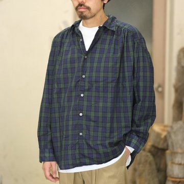 【2018 SS】AiE(エーアイイー) Painter Shirt [Tartan Check]  -BLACKWATCH-  #CH488