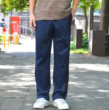 【2018 SS】 ts(s) (ティーエスエス) Smooth Cotton Terry Jersey Asymmetry Line Track Pants -(28)Dark Navy #ET38XC10