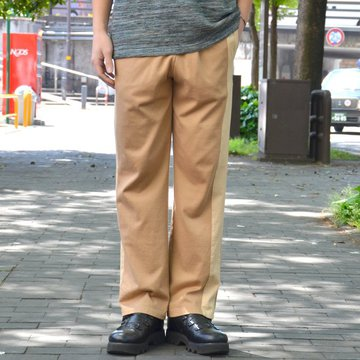 【2018 SS】 ts(s) (ティーエスエス) Smooth Cotton Terry Jersey Asymmetry Line Track Pants -(32)Light Beige #ET38XC10
