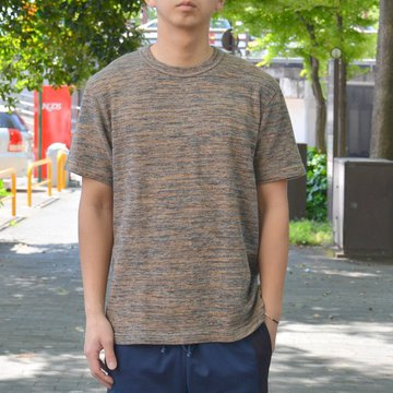 【2018 SS】 ts(s) (ティーエスエス) Melange Cotton Jersey Crew Neck T-shirt -(35)Brown- #ET38XC11