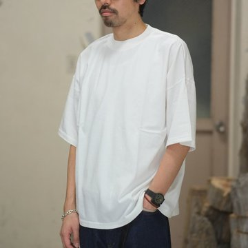 AURALEE(オーラリー)/  SOFT CORD BIG TEE -WHITE- #A8ST02MT