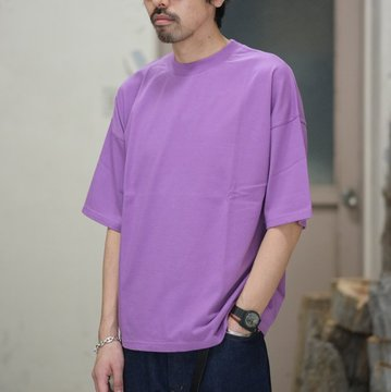 AURALEE(オーラリー)/  SOFT CORD BIG TEE -PURPLE- #A8ST02MT