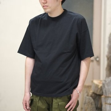 AURALEE(オーラリー)/  SOFT CORD BIG TEE -BLACK- #A8ST02MT