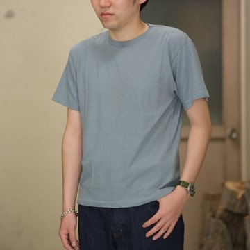 AURALEE(オーラリー)/  TWIST COTTON CASHMERE TEE -Blue Gray- #A8ST02CC