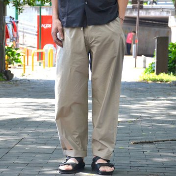 【2018 SS】 AURALEE(オーラリー) SELVEDGE WEATHER CLOTH EASY PANTS -GRAY BEIGE- #A8SP03WC
