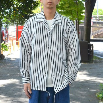 【2018 SS】 MARKAWARE(マーカウェア)/ COACH SHIRT -WHITE X BLACK- #A18A-11SH03C