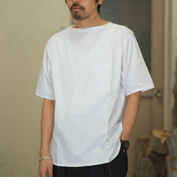 【2018 SS】COMOLI (コモリ) ボートネック半袖シャツ -WHITE- #M01-05006