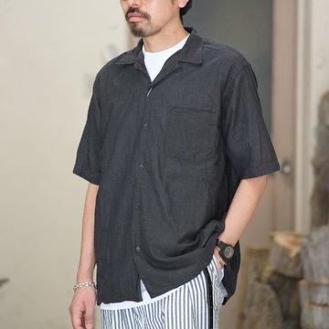 【2018 SS】COMOLI (コモリ)  ベタシャンオープンカラーシャツ -CHARCOAL- #M01-02011