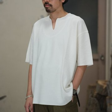 blurhms(ブラームス) / Rough&Smooth Thermal Loose Fit Over Neck  -Off-  BHS-RKSS17018