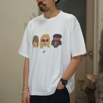 blurhms(ブラームス) / 27 Tee Loose fit  -White-  BHS-RKSS1810018B