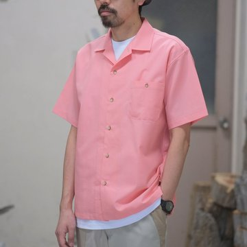 【2018 SS】BROWN by 2-tacs (ブラウンバイツータックス) OPEN COLLAR -PINK- #B19-S002