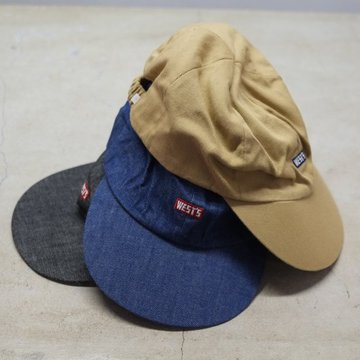 WESTOVERALLS( ウエストオーバーオールズ ) WEST'S CAP- 3色展開(Black , Indigo , Beige ) -  #18SWCP01