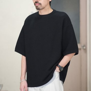 【2018 SS】crepuscule(クレプスキュール) TUCK KNIT   -BLACK- #1801-009