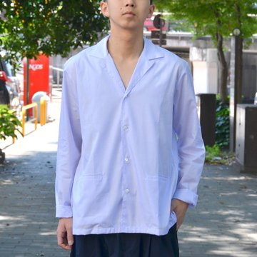 STUDIO NICHOLSON(スタジオニコルソン)/ FEATHERLIGHT OPEN COLLAR BOX SHIRT -PERIWINKLE- SN-255A