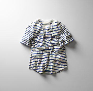 【18 SS】 Curly(カーリー) BRUSH BORDER SS TEE  -2色展開- #181-04041