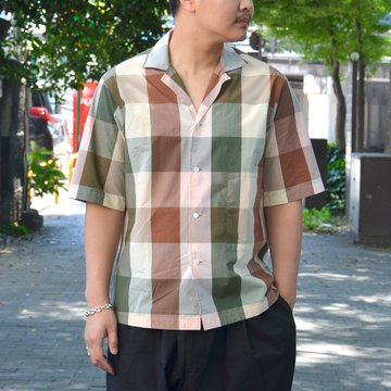 STUDIO NICHOLSON(スタジオニコルソン)/  SHORT SLV MADRAS CHECK SHIRT -MULTI- #SN-280A
