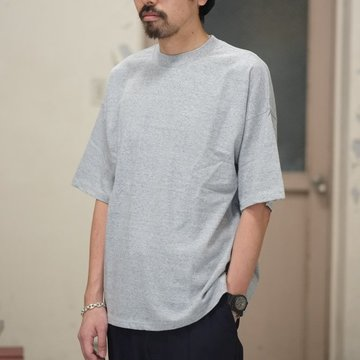 【2018 SS】AURALEE(オーラリー)/  SOFT CORD BIG TEE -GRAY- #A8ST02MT