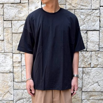 【2018 SS】AURALEE(オーラリー)/ HIGH GAUGE DOUBLE CLOTH TEE -KHAKI GREEN- #A00T01DC