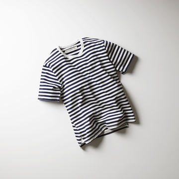 【18 SS】 Curly(カーリー) ADVANCE HS BORDER TEE  -WHY/BLK- #182-14061BD