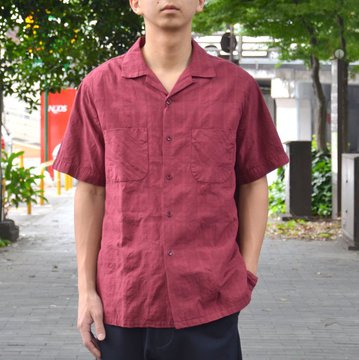 【2018 SS】 A VONTADE(ア ボンタージ) Boddy Open Shirts S/S -#3 BORDEAUX- #VTD-0285-SH