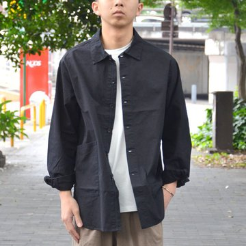 【2018 SS】 A VONTADE(ア ボンタージ) Gardener Shirt Jacket -#9 BLACK- #VTD-0293-SH