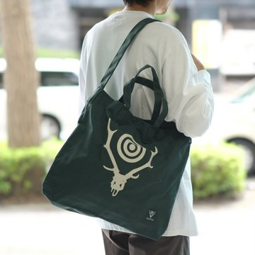 South2 West8(サウスツーウエストエイト) Grocery Bag[Skull&Target] -GREEN-