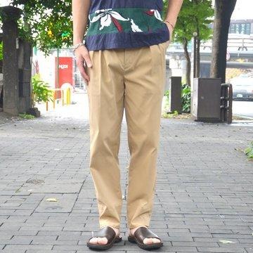 【30% OFF SALE】SLOWGUN(スロウガン) / 2タックホワイトバックパンツ-(A)BEIGE- #280906