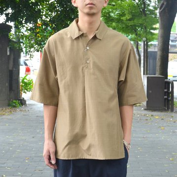tim.(ティム)/ WINDOW PANE DOLMA POLO -(63)BEIGE- #8103-0603