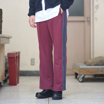 【2018 AW】NEEDLES (ニードルス) TRACK PANT  Poly Smooth -MAROON- #DI171