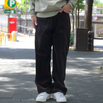 【18 AW】 AURALEE(オーラリー)/ WASHED CORDUROY 5P PANTS -BLACK BROWN- #A8AP03FN