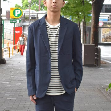 【2018 AW】A VONTADE(ア ボンタージ) Lounge Jacket -T/R Stretch Serge-DK.NAVY- #VTD-0279