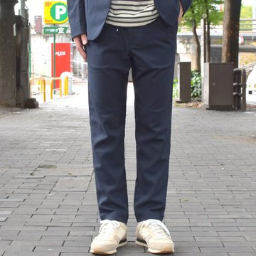 【2018 AW】 A VONTADE(ア ボンタージ) Slim Easy Slacks-T/R Stretch Serge-DK.NAVY- #VTD-0291-PT