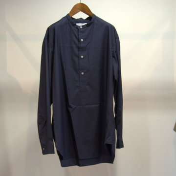 【18 AW】Graphpaper(グラフペーパー) Band Collar Shirt -NAVY- #GM183-50070B