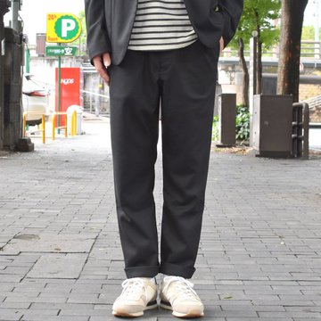 【2018 AW】 A VONTADE(ア ボンタージ) Slim Easy Slacks-T/R Stretch Serge-BLACK- #VTD-0291-PT