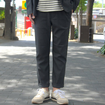 【2018 AW】 A VONTADE(ア ボンタージ) Slim Easy Slacks-T/R Stretch Serge-DK.CHARCOAL- #VTD-0291-PT