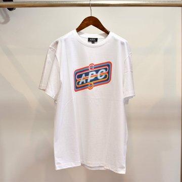 A.P.C(アーペーセー)  プリントTシャツ -ホワイト-