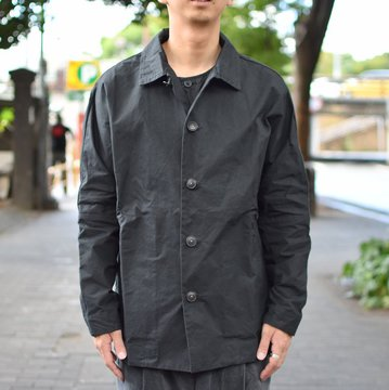【2018 AW】 CASEY CASEY(ケーシーケーシー)/WAX VESTE HIGA JACKET-BLACK- #11HV169