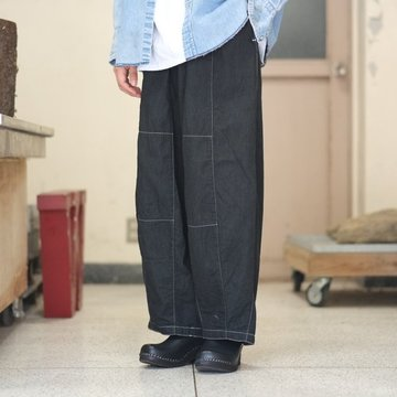【2018 AW】NEEDLES (ニードルス) H.D PANT [6oz denim] -BLACK- #DI114
