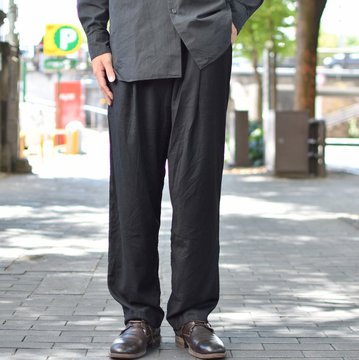 【2018 AW】 CASEY CASEY(ケーシーケーシー)/ WOOL PANTALON JOG BASICS LONG PANT -BLACK- #11HP125