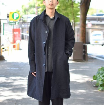 【2018 AW】 CASEY CASEY(ケーシーケーシー)/FLANEL MANTEAU FLAY 2 COAT-NAVY- #11HM76