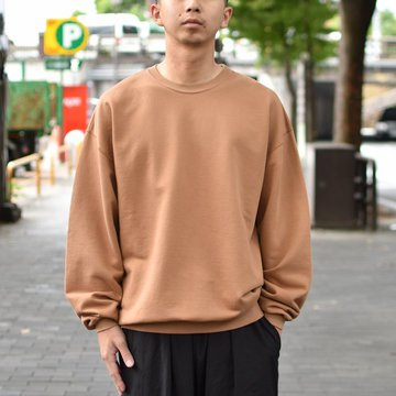 【2018 AW】 AURALEE(オーラリー)/ SUPER SOFT HEAVY SWEAT P/O -BROWN- #A8AP01GU