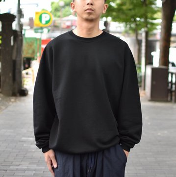 【2018 AW】AURALEE(オーラリー)/ SUPER SOFT HEAVY SWEAT P/O -BLACK- #A8AP01GU