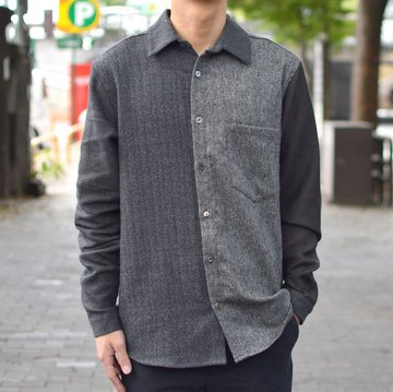 FRANK LEDER(フランクリーダー) VINTAGE FABRIC EDITION PLAIN SHIRT 0426053-98M-M