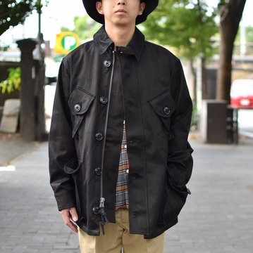 【2018 AW】 MONITALY(モニタリー)/ MILITARY HALF COAT TYPE-B -VANCLOTH SATEEN BLACK- #M24003