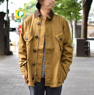 【2018 AW】 MONITALY(モニタリー)/ MILITARY HALF COAT TYPE-B -VANCLOTH SATEEN KHAKI- #M24003