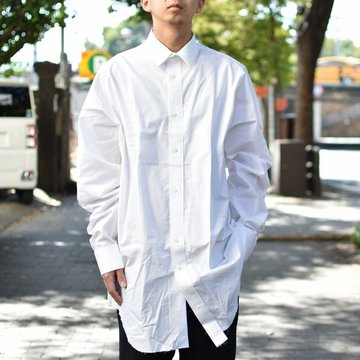 【2018 AW】 CAMIEL FORTGENS(カミエル フォートゲンス)/LONG SHIRT SHIRTING -WHITE- #CAMIEL-634