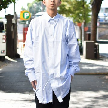 【2018 AW】 CAMIEL FORTGENS(カミエル フォートゲンス)/LONG SHIRT SHIRTING -STRIPE- #CAMIEL-634