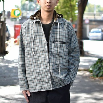 【2018 AW】 CAMIEL FORTGENS(カミエル フォートゲンス)/HOODED SPORTY TRACK JACKET -CHECK 4- #CAMIEL-683