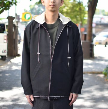 【2018 AW】 CAMIEL FORTGENS(カミエル フォートゲンス)/HOODED SIMPLE JACKET -BLACK- #CAMIEL-683