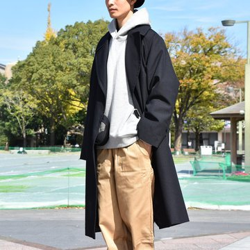 【2018 AW】COMOLI (コモリ) ウールサージタイロッケンコート -NAVY- #N03-04004